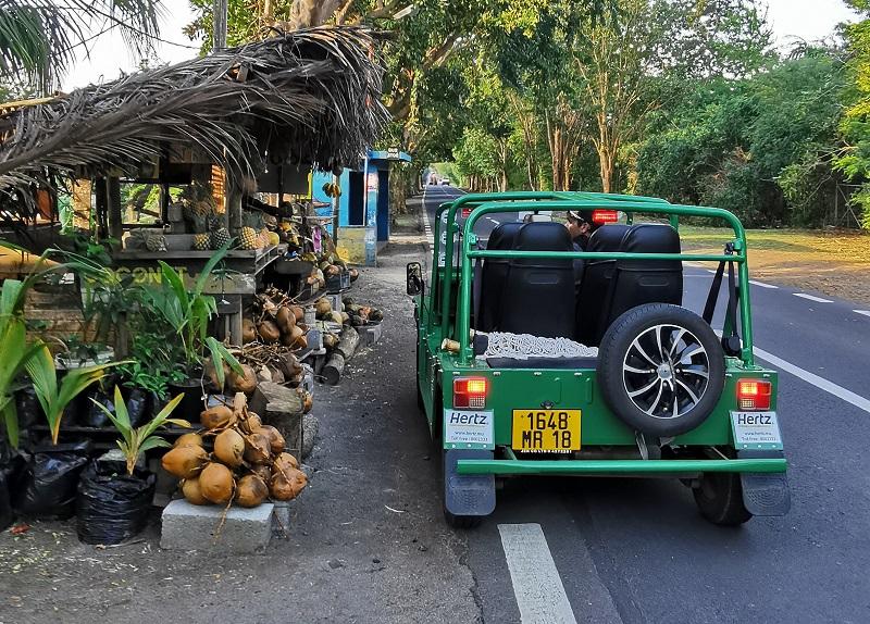 rent a mini moke in Mauritius