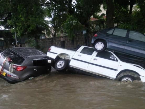 Drastic flooding in the capital of Mauritius