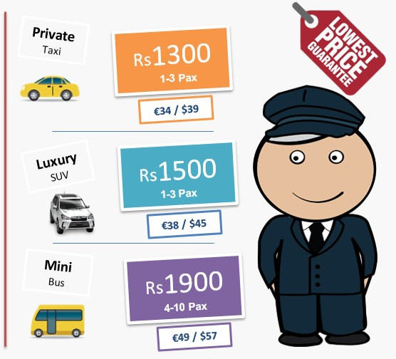 aiport transfer price in mauritius