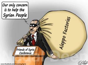 Erdogan   ordina i  saccheggi dell'IS  in Siria?