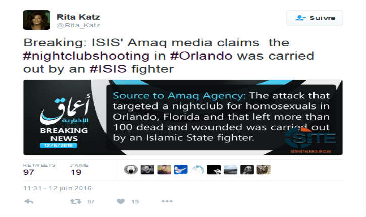 Rita-Katz-sur-Twitter-Breaking-ISIS-Amaq-media-claims-the-nightclubshooting-in-Orlando-was-carried-out-by-an-ISIS-fighter-https-t