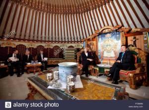 german-chancellor-angela-merkel-c-speaks-with-mongolian-president-FT5W6N