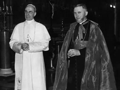 Il missionario Lefebvre col 'suo' Papa