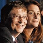 Bill e Melinda Gates, benefattori.