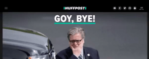"""GOY, BYE"" - PER BANNON SE NE VA."