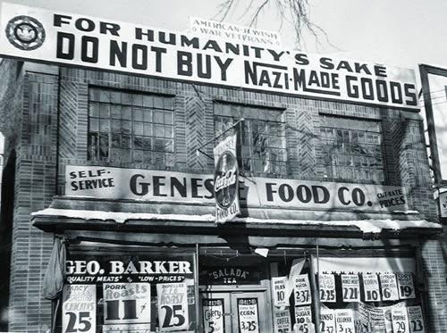 """""""Non comprate beni nazisti!"""". Boicottaggio delle merci tedesche in USA, 1933."""
