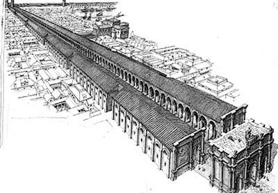 I portici monumentali di Porta Romana a Milano. Possiamo solo immaginarli.