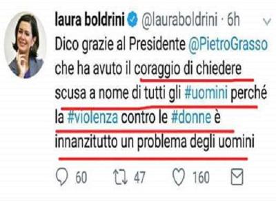 Laura Boldrini è gonfia di Bontà e ripiena di Moralità.