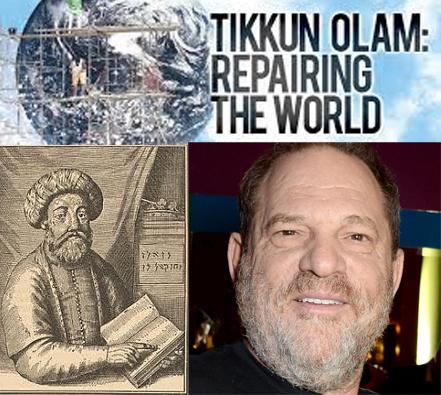 "Sabbatai Zevi a sinistra, Weinstein a destra, ""riparano il mondo"""