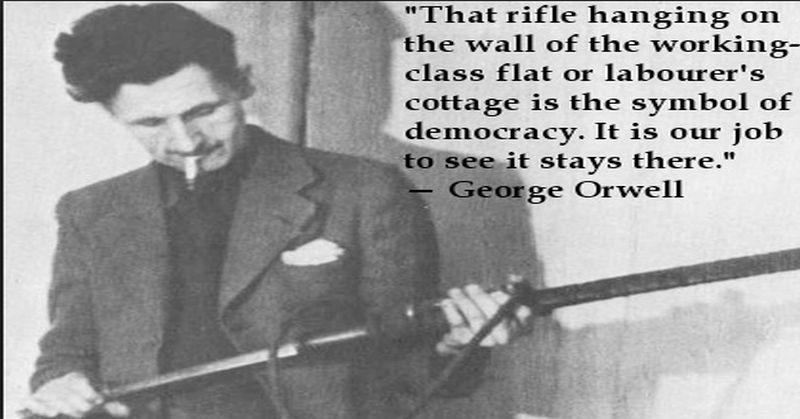 Su cosa poggia la democrazia per Orwell