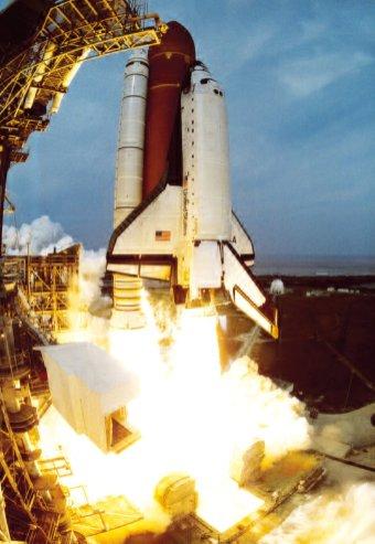 Space Shuttle Columbia lancio