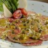 Carpaccio de lagarto Pizza Fugazzeta
