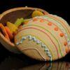 Ovo de Páscoa de bolacha com chocolate Fernanda Ribeiro Bolachas decoradas