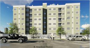 Apartamento na esquina da Rua Maranhão com a Rua Graciliano Ramos em Cascavel