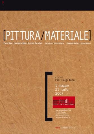 "Pagina pubblicitaria mostra ""PITTURA MATERIALE"" 2007"