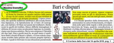 Berlusconi, Salvini e Di Maio, i bari e i corazzieri del Quirinale