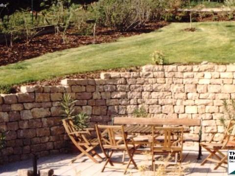 steinmauern im garten steinmauern im garten