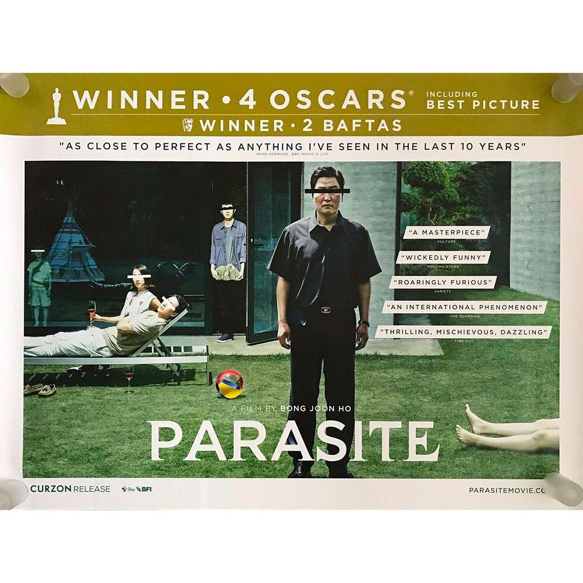 parasite gisaengchung british quad movie poster 30x40 in 2019 bong joon ho kang ho song