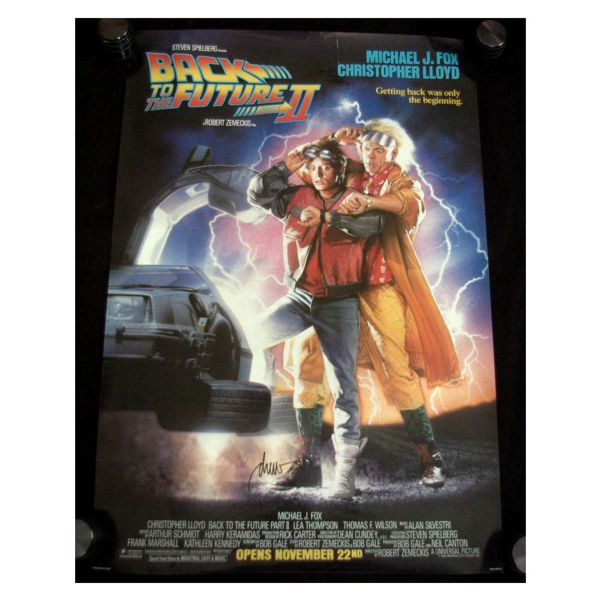 back to the future 2 signed movie poster by drew struzan us 89 original 1sh