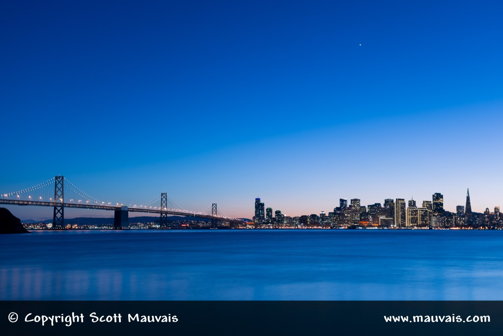 San Francisco's Waterfront with Holiday Lights