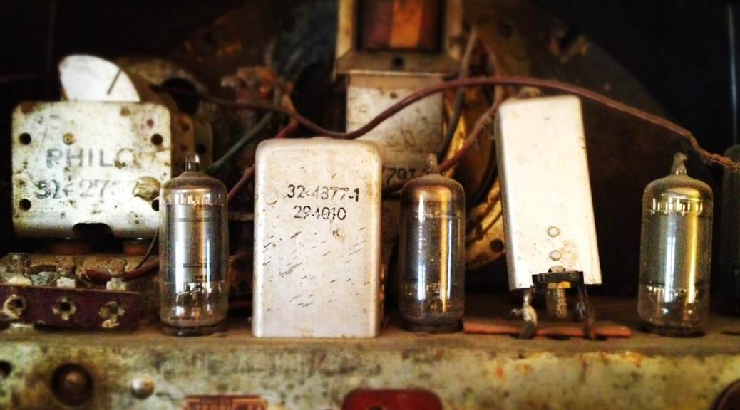 The circuits of an old radio