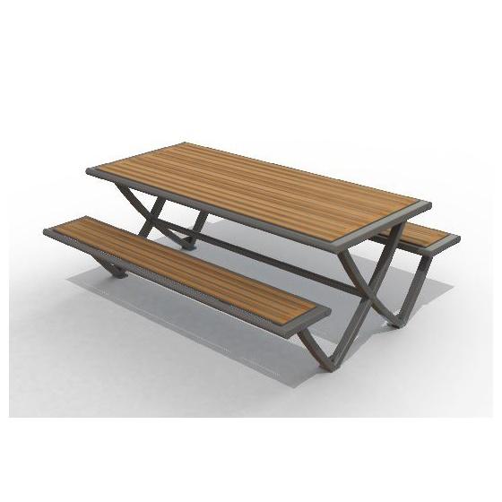 table pique nique acier bois erce