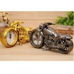 Souvent Vintage Moto Alarm Clock Réveil Moto Horloge de table Quartz Horloge Horloge Oddiyana Monochrom