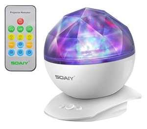 [Version mise à jour W/Télécommande] Soaiy® LED à couleur changeante Nuit Lumière Lampe et réaliste Aurora Borealis Star projecteur, 4Minuteur Option, 3niveau de luminosité, de Sommeil//décoratif/lumière d'ambiance