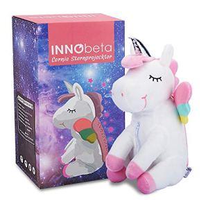Licorne peluche projecteur etoiles plafond, veilleuse etoile jouet lumiere chambre bebe enfant pour l'anniversaire, fête, décoration