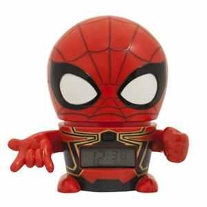 Réveil veilleuse avec sons du personnage pour enfant BulbBotz Marvel 2021692 Avengers: Infinity War Iron Spider