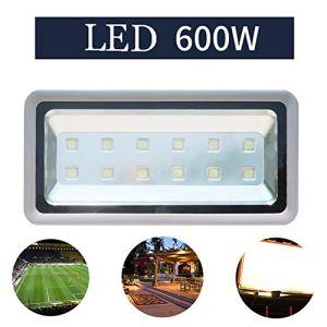 Projecteur LED, Super Brillant Imperméable Haute Puissance Floodlight Cour Jardin Terrain de Basketball Lumière D'Inondation (Size : 600W)