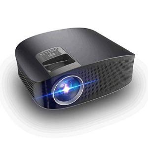 1080P professionnels pris en charge Mini Projecteur – 30.000 heures LED Full HD Vidéo Projecteur, Compatible avec HDMI, USB, SD, version WIFI Android