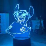 Enfants GiftsStitch 3D Veilleuse Coloré Changement de Couleur de la Chambre à coucher Touch Lampe Point 13 Coloré Base Noir