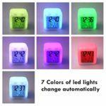 Running man123 store Enfants réveil Chevet réveil numérique réveil avec Port de Charge USB LED veilleuse colorée éclairée Petit réveil muet Y1446