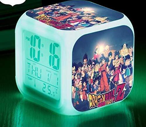 Figurines veilleuse accessoire affiche noël enfants coloré brillant numérique réveil cadeau jouets fonction LED réveil