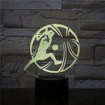Lampe 3D Basketball Forme Décor LED Veilleuse Table De Sport Lampe Décorative Enfant Enfants Bébé Kit Veilleuse