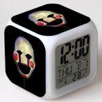 Led réveil fonction veilleuse affichages numériques jouets horloge lumineux alarme numérique chiffres accessoire cadeau de noël pour enfants