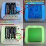 Led réveil fonction veilleuse affichages numériques jouets pour enfants horloge rougeoyante alarme numérique chiffres accessoire cadeau de noël