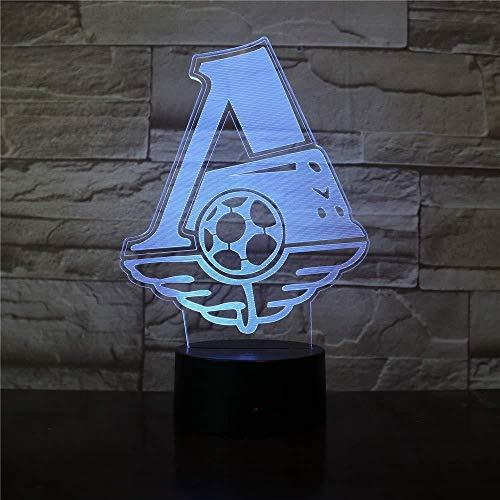 Veilleuse 3D veilleuse lampe 3D Lokomotiv Football Club 3D veilleuse LED pour bureau décoration de la maison enfant garçons bébé veilleuse lampe de table cadeau avec télécommande