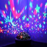 sjzwt PROJECTEUR DE LA VIGHT Projet DE LA NUMÉE sur Starry Sky Star MAÎTRES Enfants Enfants Enfants Baby SLEE Sleep Romantique LED USB Lampe Projection (Color : Blue, Emitting Color : Stars)