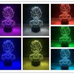 3D Illusion Lumière-Dessin Animé Anime Personnage Veilleuse 3D Lampe À Led Humeur Lampe Décor Lampe Veilleuse Pour Enfants Jeu Cadeaux-Télécommande