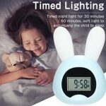 Réveil lumineux pour enfants – Avec USB – LED – Réveil pour enfants – Lampe de chevet – Réveil numérique silencieux avec fonction snooze – Veilleuse programmable pour enfants