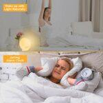 Réveil lumineux Wake Up – Cadrim Radio réveil lever du soleil avec double réveil, 7 sons naturels et radio FM et fonction snooze pour adultes et enfants