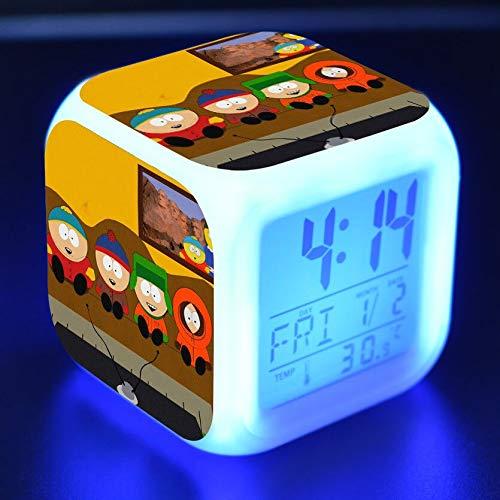shiyueNB Dessin animé Jouet Enfants réveil LED Couleur Changeante Horloge numérique Bureau Nuit réveil lumière rougeoyante Cadeau Version électronique 09