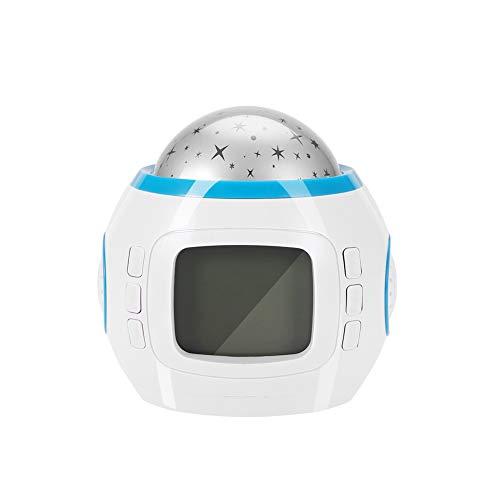Projecteur Light – Portable Star Sky Effect LED Music Player Projecteur Light Home Decor Lampe Horloge