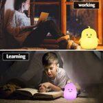 Veilleuse LED Veilleuse Lampe de Chevet Night Light Enfants, Recharge USB, Télécommande et taper pour change couleur, Réchauffe Chambre Lumières Cadeaux De Noël (Pingouin)
