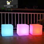 Wlnnes Extérieur Led Cube Chaise étanche IP65 16RGB couleur 4 Luminosité Led Mood Light Cube avec télécommande extérieure-intérieure Veilleuse Tabouret for Chambre Party (Color : 80cm*80cm*80cm)