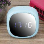 Emoshayoga Écran LED Durable Multifonctionnel de réveil réveil électronique pour Le Salon de Chambre à Coucher utilisant(Blue)