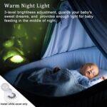 USB Portable White Bruisson Machine bébé pour Dormir avec la Nuit de Nuit/projecteur étoilé, 20 fidélité de Sons Non-bouclés/Ventilateur Lullaby,Blanc