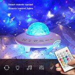 Miffen Projecteur Ciel Étoile, 3D Veilleuse Projecteur avec Télécommandées, 360° Rotatif/Couleur/Effet Aurora, Luminosité/Vitesse/Direction Réglables LED Projection pour Enfant Cadeau Salles De Jeux